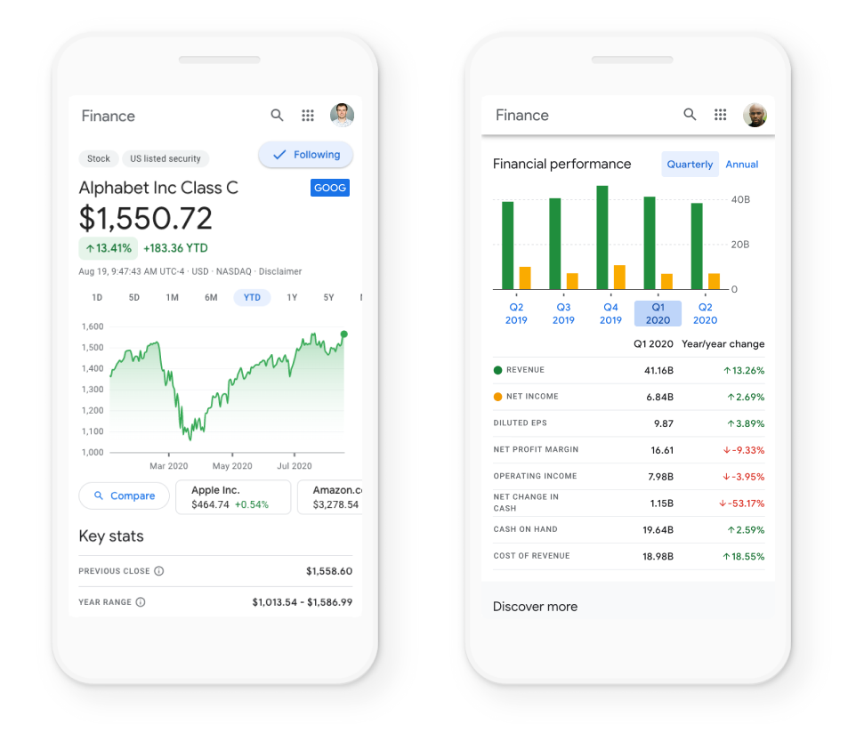 Google Finance makes investing information more accessible