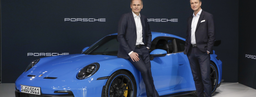Oliver Blume, Chairman of the Executive Board, Porsche AG and Lutz Meschke, Deputy Chairman of the Executive Board and Member of the Executive Board, Finance and IT